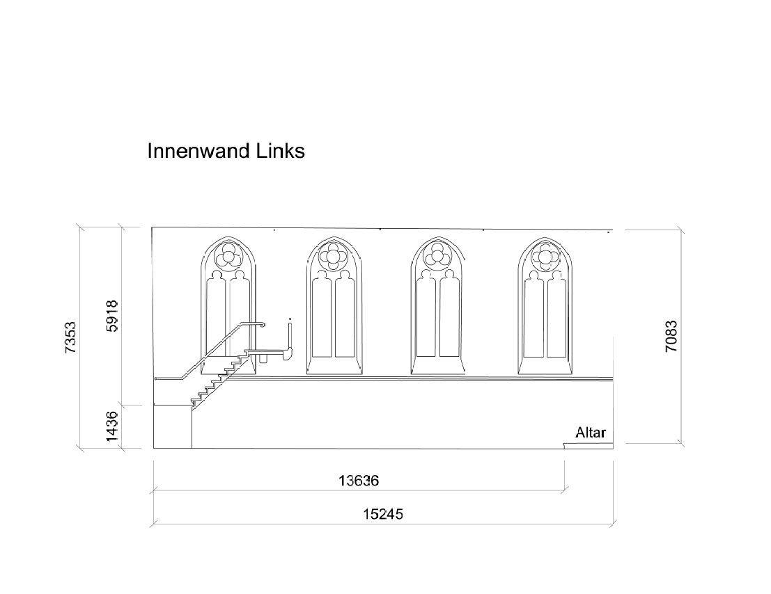 3D-Laserscanning Photogrammetrie 3D-Vermessung Aufmaß Zeichnung Kirche Architektur Duisburg NRW