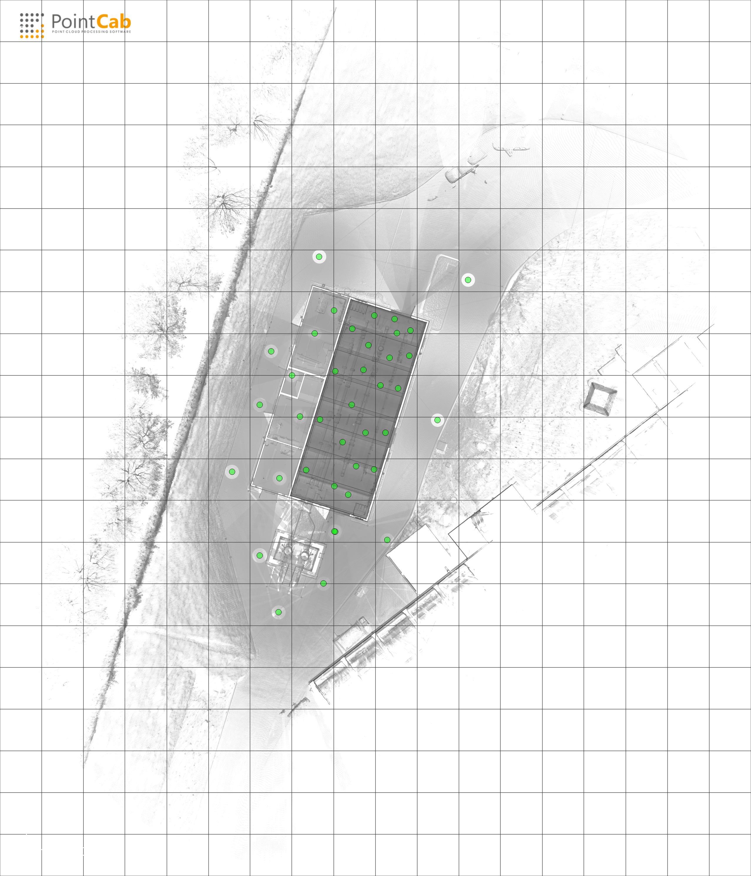 Photogrammetrie 3D-Vermessung Aufmaß Grundriss GDRM Gasanlage Technische Anlage Moers Düsseldorf NRW