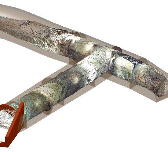 3D-Laserscanning 3D-Vermessung Aufmaß Modell Burgwall Kasematten Moers Brüggen NRW