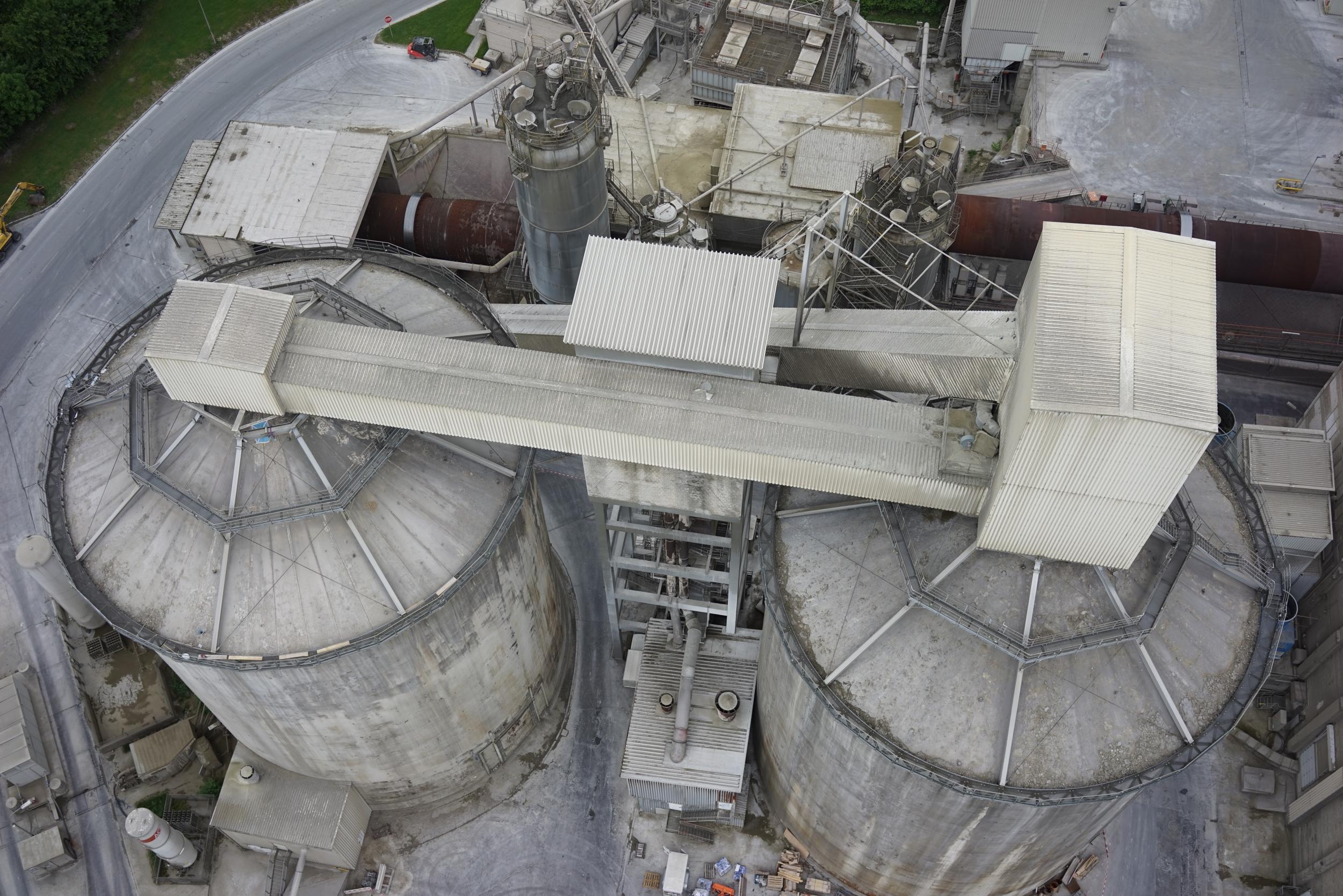 3D-Laserscanning 3D-Vermessung Aufmaß Punktwolke Industrieanlage Silo Moers NRW