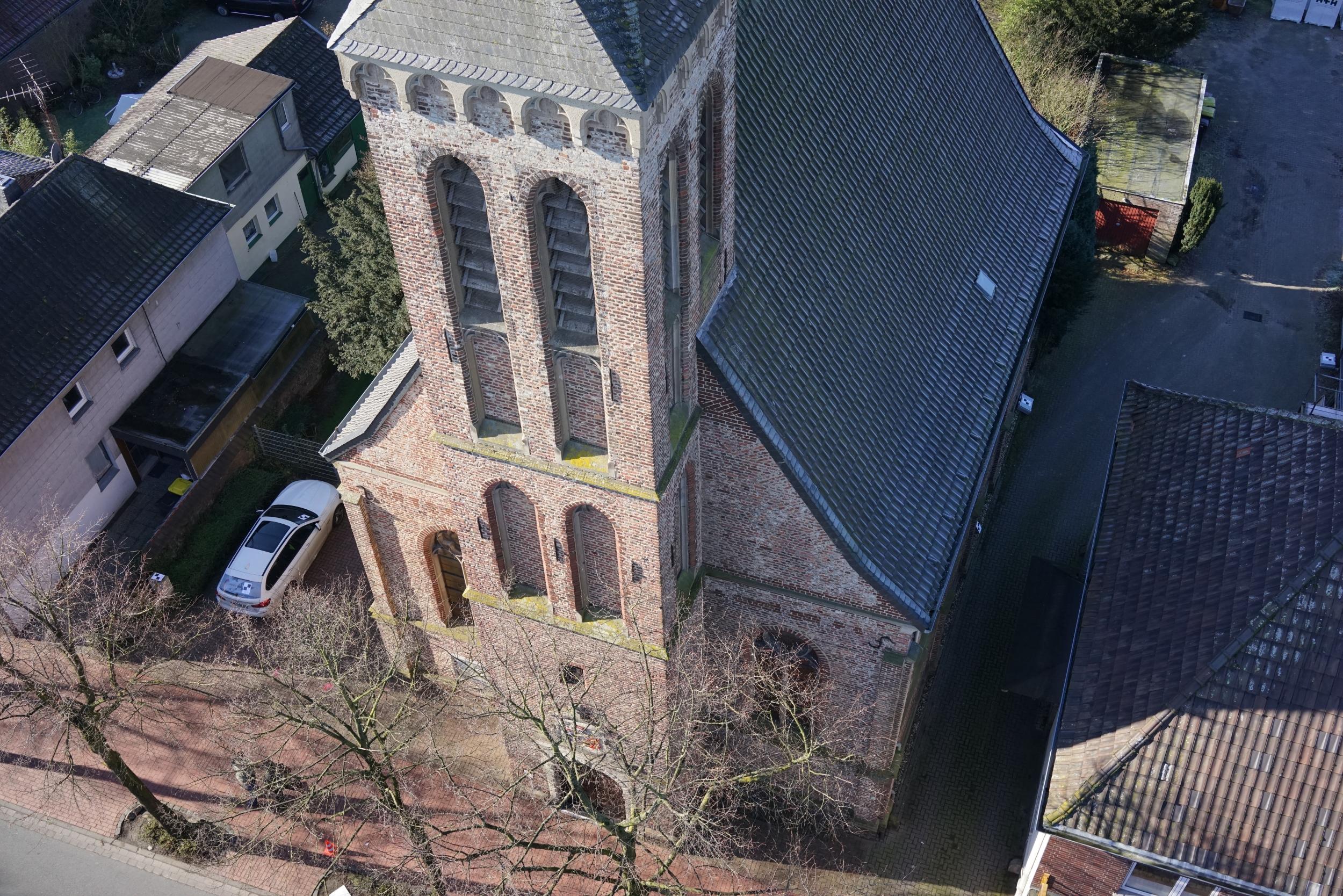 3D-Laserscanning Photogrammetrie 3D-Vermessung Aufmaß Punktwolke 3D-Modell Kirche Architektur Moers Duisburg NRW
