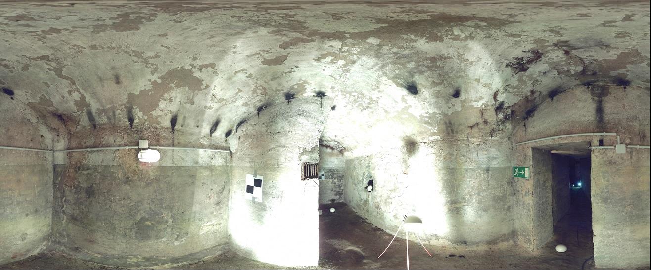 3D-Laserscanning 3D-Vermessung Aufmaß Punktwolke Burgwall Kasematten Moers Brüggen NRW