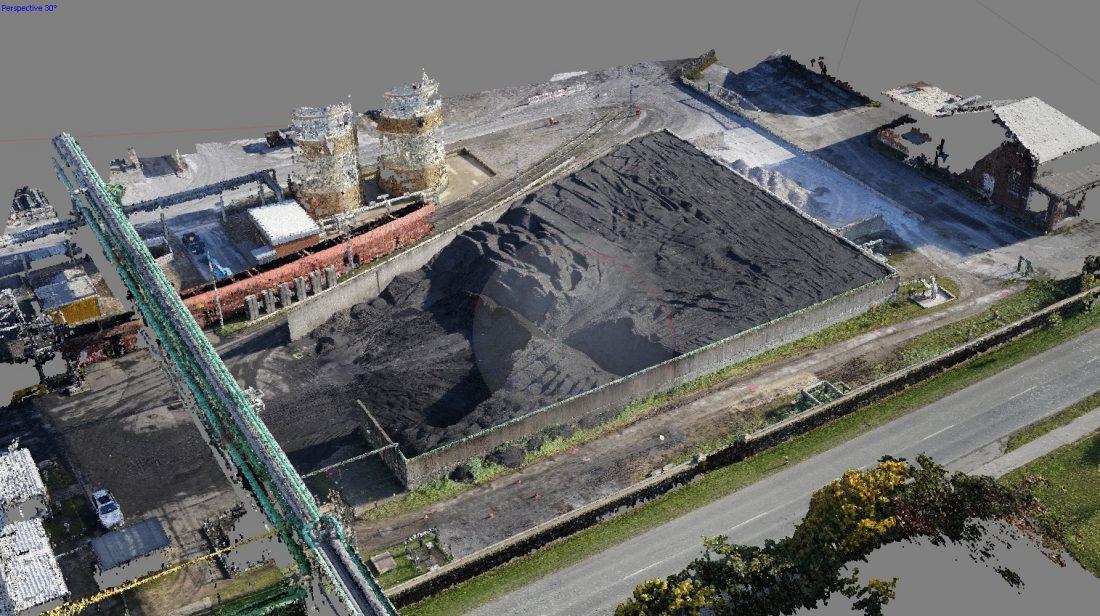 Photogrammetrie 3D-Vermessung Aufmaß Punktwolke 3D-Modell Haufwerke Volumenbestimmung Flächenvermessung Moers Duisburg NRW