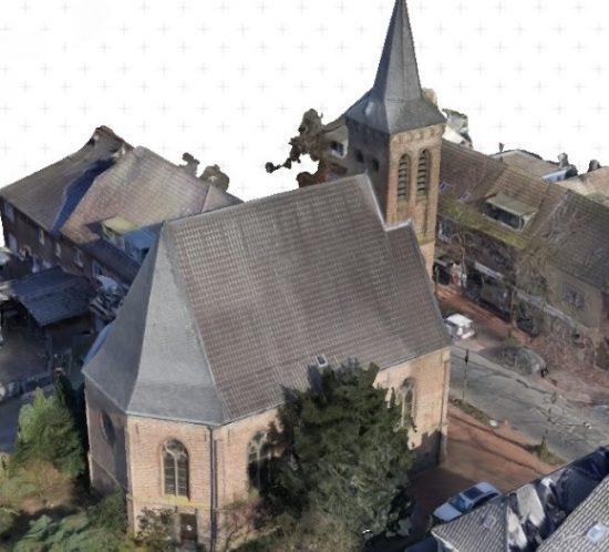 3D-Laserscanning Photogrammetrie 3D-Vermessung Aufmaß Punktwolke 3D-Modell Kirche Architektur Duisburg NRW