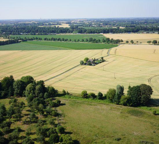 Luftbildaufnahme Flugroboter UAV Luftbild Moers Niederrhein NRW